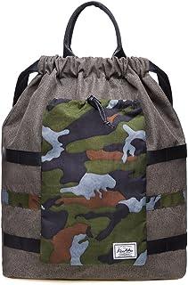KAUKKO Drawstring Backpack String Bag Sports Outdoor Sackpack Yoga Sackpack Lightweight Sackpack Backpack for Men & Women School(Green)