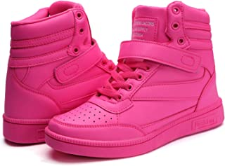 Women's High Top Fashion Sneakers Hidden Heels Sports Shoes Ankle Booties