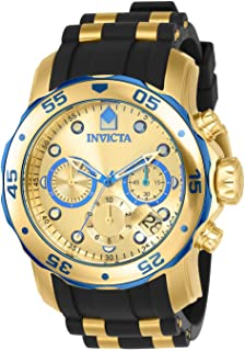 Men's 17887 Pro Diver Blue-Accented and 18k Gold Ion-Plated Stainless Steel Watch