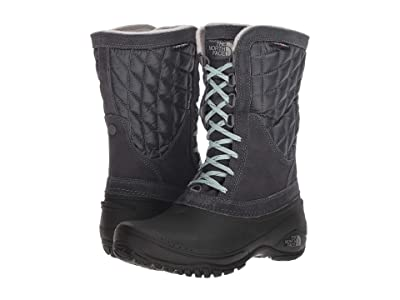 The North Face ThermoBall Utility Mid (Shiny Blackened Pearl/TNF Black) Women