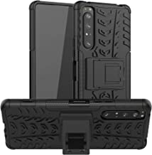 LiuShan Compatible with Xperia 1 II Case,Shockproof Heavy Duty Combo Hybrid Rugged Dual Layer Grip Cover with Kickstand fo...