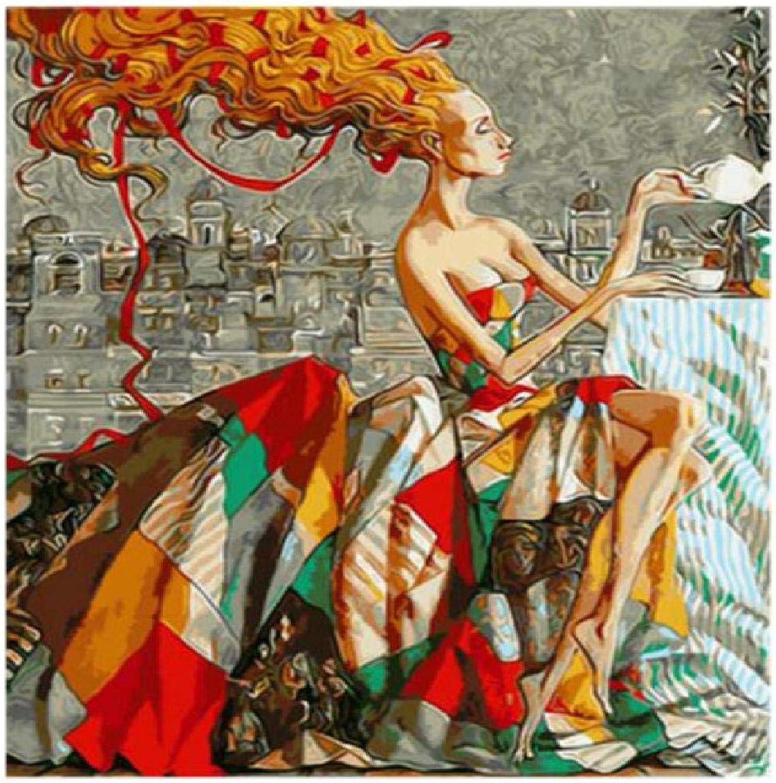 alta calidad y envío rápido Diy Pintura Digital Woman A,120X160Cm Pintura Digital Lienzo Arte Arte Arte De La Parojo Obra De Arte Pintura De Paisaje Sala De EEstrella En Casa Oficina Decoración De Navidad Decoración Regalo De Los Niños Adultos  garantizado