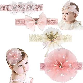 أربطة رأس للبنات الرضع، ربطات رأس AOKE وربطة شعر وأربطة للرأس لحديثي الولادة، إكسسوارات شعر للأطفال