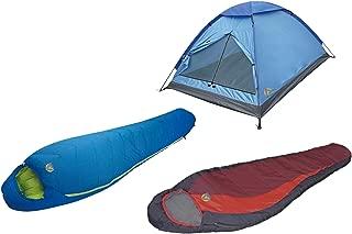 Alpinizmo High Peak USA Redwood (-5F) & Summit 20F + Monodome 3 Tent Combo Set, Blue/Red, One Size