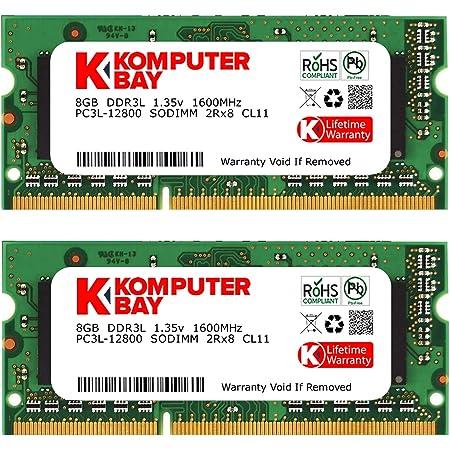 Komputerbay DDR3-1600 1.35V(低電圧) ノートPC用 SODIMM 16GBセット (8GB×2) PC3L-12800 Mac 対応 永久保証 1600MHz