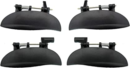 For Rear Right and Rear Left 1997-2005 Hyundai Atos Texture Black Outside Outer Door Handle 2PCS Set 1997 1998 1999 2000 2001 2002 2003 2004 2005