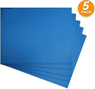 Emraw Poster Board Lightweight Craft Backing Boards for Presentations Office Sign Blank Painting Board Smooth Surface Poster Sheets for School Pack of 5 (Fluorescent Blue)