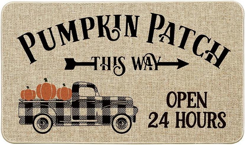 Artoid Mode Bargain sale Pumpkin Patch Watercolor Decorat Japan Maker New Truck Plaid Buffalo