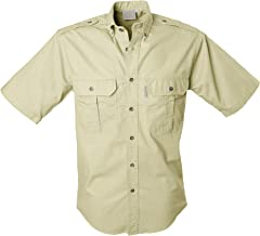 Tag Safari Trail Shirt for Men Short Sleeve, 100% Cotton Shirt for Hunters, Explorers, Photographers and Journalists