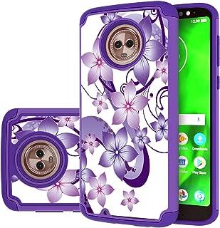 Moto G6 Case,Yiakeng Dual Layer Waterproof Hard Slim Glitter for Girls Women Wallet Phone Cover Cases for Motorola Moto G (6th Generation) 5.7