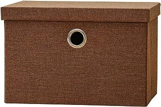 Boîtes de rangement - Boite de rangement en lin pliable avec couvercles et poignée - Boîtes de rangement for jouets Rangem...