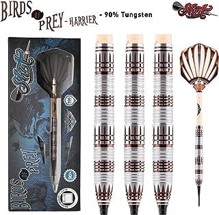Shot! Darts Birds of Prey Harrier/Soft Tip Dart Set/Centre Weighted/90% Tungsten Barrels