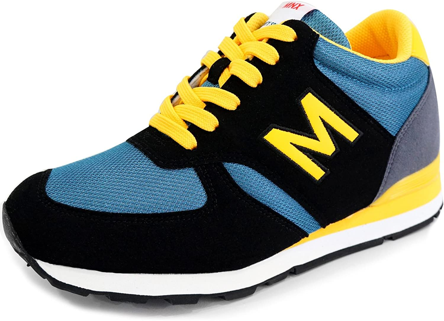 MNX15 Women's Elevator shoes Height Increase 2.7  Envy bluee