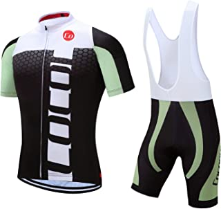 Coconut Ropamo Pro Team Summer Men's Cycling Jersey Set Bib Shorts with 3D Padded Cycling Kits