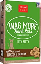 Cloud Star Wag More Bark Less Itty Bitty Oven Baked Dog Treats, Small Whole Grain Biscuits