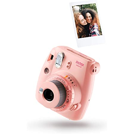 Cámara instantánea Fujifilm instax mini 9 Rosa Claro + carga 10 fotos