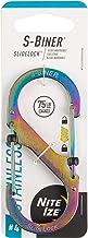 Nite Ize LSB4-07-R3 S-Biner SlideLock Stainless Steel Dual Locking Carabiner, Size #4, Spectrum