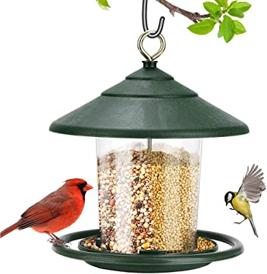 Hayder Outside Hanging Bird Feeder, Waterproof Outdoor Wild Birdfeeder with S Hook, Hanging for Garden Yard Outdoor Decoration