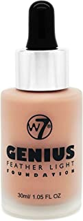 W7 Genius Feather Light Foundation Natural Tan for Women - 1.05 oz, Pack Of 1