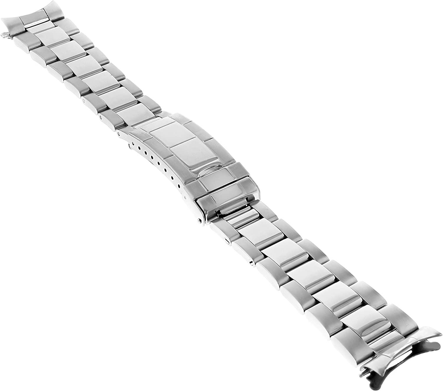 Oyster Watch Band Animer and price revision Compatible with San Francisco Mall 19mm Submariner Fliplock Rolex
