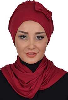 Instant Turban Cotton Scarf Head Wrap With Scarf Chemo Headwear Cancer Cap