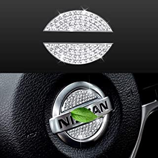 Bling Bling Car Steering Wheel Decorative Diamond Crystal Decal Decoration Cover Sticker Fit For NISSAN,DIY Bling Car Stee...
