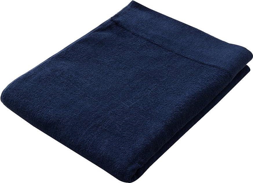 拡声器ハンサム変更可能エムール 『ユキノオト』 タオルケット シングル 日本製 綿100% 吸水性 ネイビーブルー