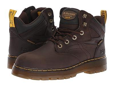 Dr. Martens Work Plenum WP ST 6-Tie Boot (Dark Brown) Men