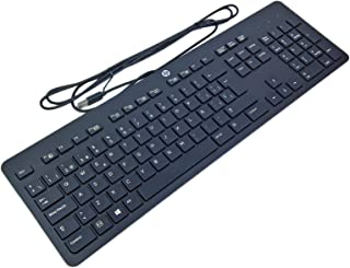 HP 803181-071 - Teclado (Estándar, Alámbrico, USB, Interruptor mecánico, QWERTY, Negro)