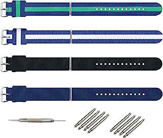 KHZBS NATO Strap 12 14 20mm Nylon Watch Band Multiple Styles