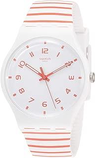 Swatch Redure SUOW150 Matte White Silicone Quartz Fashion Watch