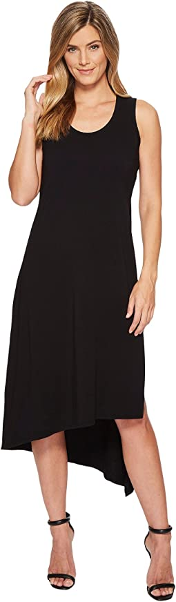 Mod-o-doc - Cotton Modal Spandex Jersey Double Layer High Side Slit Tank Dress