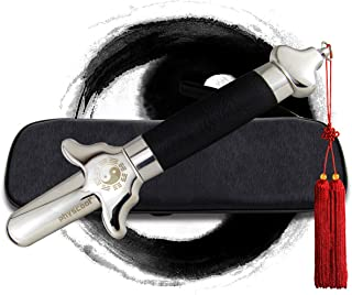 PhysCool Premium Extendable Chinese Taichi Sword with Free Luxury Red Sword Tassel and PU Leather Bag