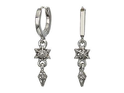 Vince Camuto Huggie Earrings (Rhodium/Crystal) Earring