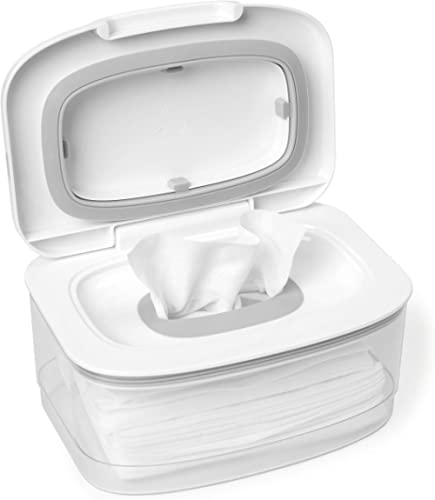 Baby Wipe Holder Keeps Wipes Fresh Baby Wipes Case Diaper Wipes Dispenser Easy Open /& Close Wipe Container for Car Home Office Non-Slip