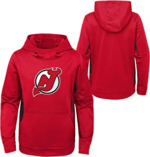 OuterStuff Youth NHL New Jersey Devils Performance Hoodie Youth Sizing
