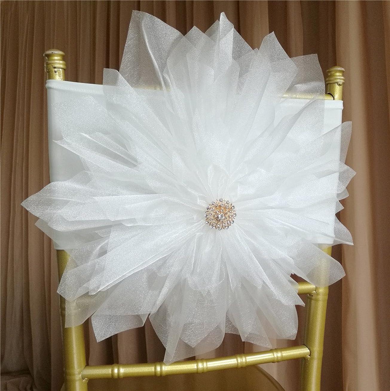 ラショナルクッションたくさん10ピースホワイト手作りウェディング椅子バック装飾花ストレッチのバンドのウェディングパーティーイベント装飾
