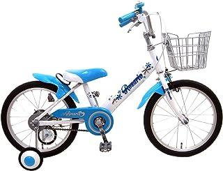 ロサリオ 16インチ ホワイトブルー 補助輪付き 組み立て式 子供用自転車 幼児自転車