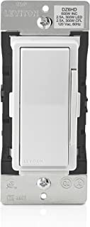 Leviton DZ6HD-1BZ Decora Smart 600W Dimmer with Z-Wave Technology, Ivory, 1-Pack, White/Light Almond
