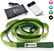 Tumaz Yoga Strap/Stretch Bands with Adjustable D-Ring Buckle (6ft/8ft/10ft, Many Stylish Colors) - Best for Daily Stretching, Yoga, Pilates, Physical Therapy, Fitness