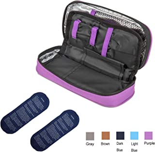 Apollo Walker Insulin Cooler Travel Case Diabetic Medication Cooler with 2 Ice Packs and Insulation Liner(Purple)