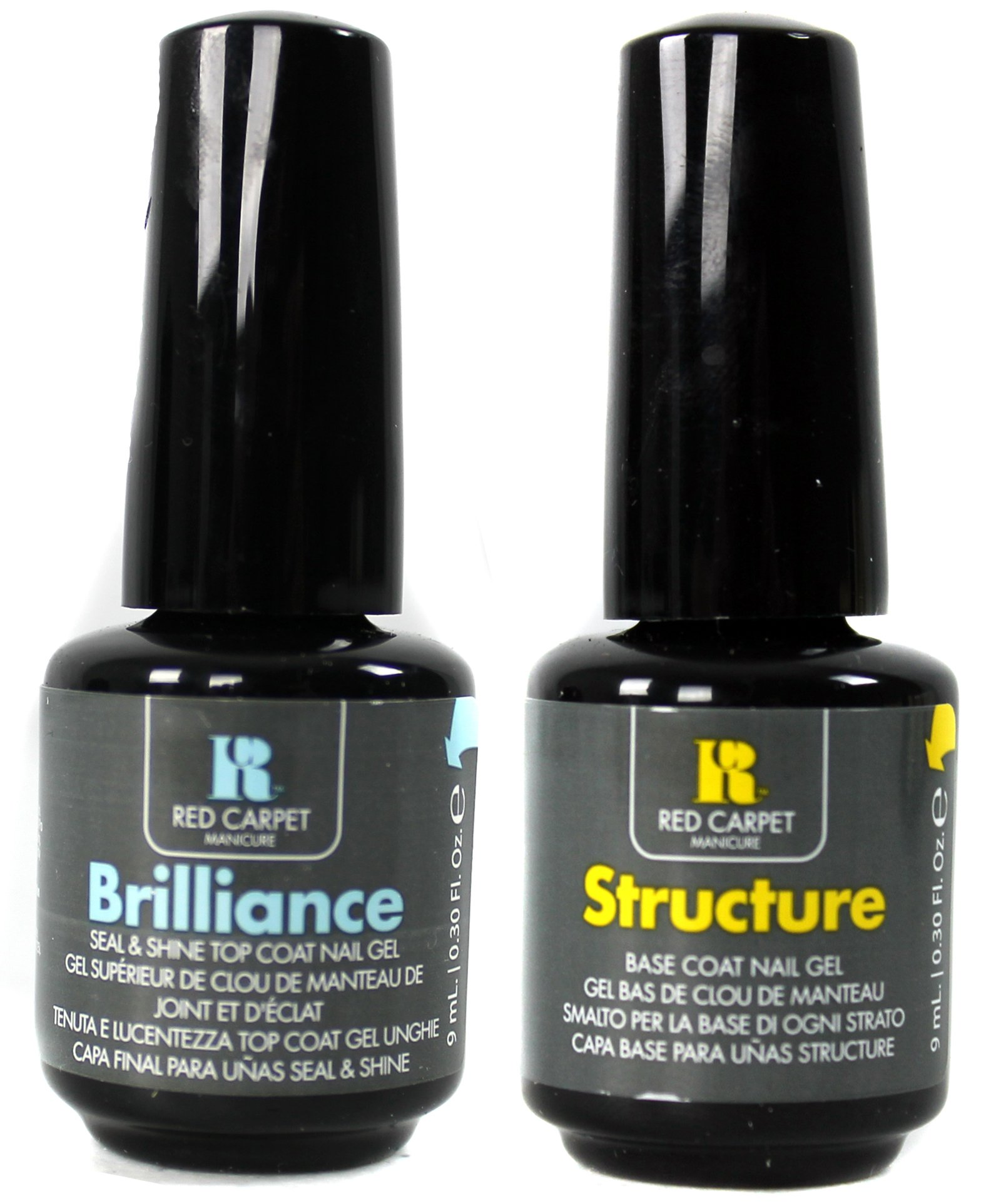 Red Carpet Manicure Gel Nail Polish Brilliance Top and Structure Base Coat 9mL