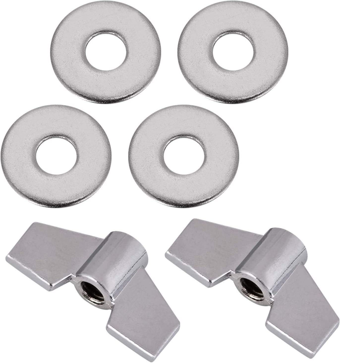 Kudoo Ranking OFFicial store TOP2 Plastic Wing Nuts Drum Felt Cymba Practical Clutch Hi-Hat