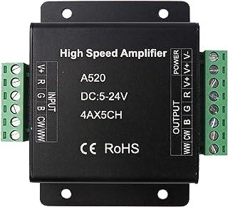 LEDENET RGB+CW+WW Amplifier 20A Data Signal Repeater 5CH Channels Circuit Aluminum Shell For RGB+W+WW LED Lights Strip 5V ...