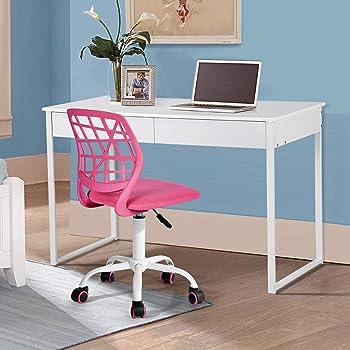 Chaise de bureau pour enfants Fanilife design réglable, ordinateur de bureau, chaise pivotante sans accoudoirs, chaise d'étude Vert