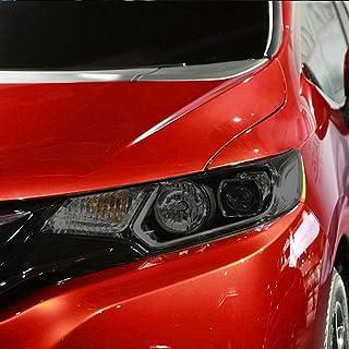 NCUIXZHAdesivo de TPU preto transparente para farol de carro de 2 peças, para Honda Fit GK5 Jazz 2014 2015 2016 2017 2019...