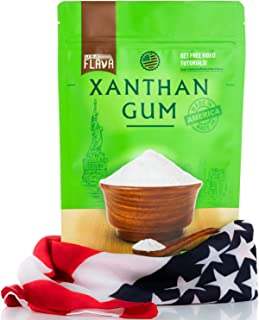 Made in USA Xanthan Gum (8 oz), Premium Quality, Food Grade Thickener, Non GMO, Gluten Free, Use in Cooking, Baking, Sauce...