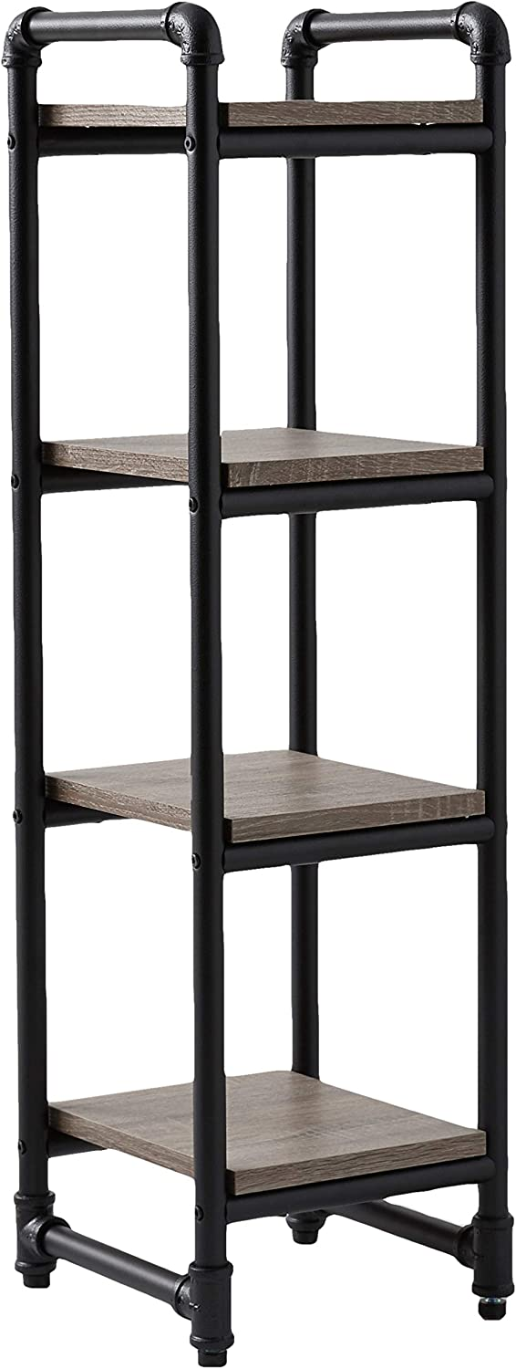 Organize It All Industrial Pipe 4 Shelf Storage Tower