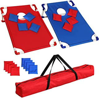 All Weather Bean Bag Toss Cornhole Game Set 8 Bean Bags W/ Carrying Bag - Bossette Boutique