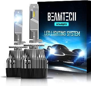 BEAMTECH 880 LED Headlight Bulbs,30mm Heatsink Base CSP Chips 10000 Lumens 885 893 899 6500K Xenon White Extremely Super Bright Conversion Kit of 2